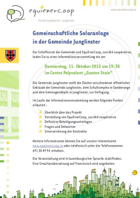 Infoversammlung 11.10.2012